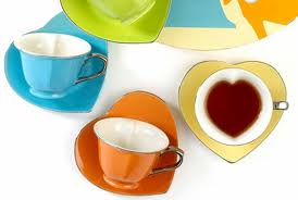 Inside Out Heart cups and saucers