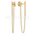 Chain diamond earrings