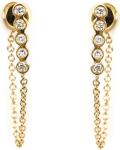 Diamond chain earrings...ileana makri
